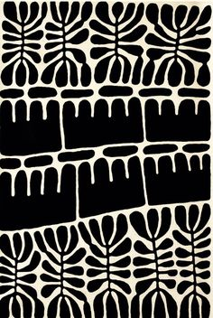No word on this evident Matisse surface décor. Love the basic B+W.