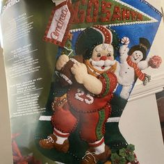 Bucilla Must Be Santa Felt Christmas Advent Calendar Kit Felt Stocking Kit, Christmas Stocking Kits, Felt Christmas Stockings, Felt Christmas Ornaments, Christmas Night, Christmas Tree, Greeting Card Holder, Felt Advent Calendar, Christmas Express