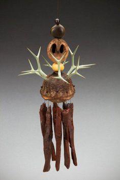 Eucalyptus with Num Num thorns, Mt. Laurel seed, Kentucky coffee tree seed, Driftwalnut, Raintree seeds from Obsidian Windchimes