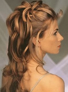 Since my hair will be long for Maggie and Johnny's wedding, one idea for a style.