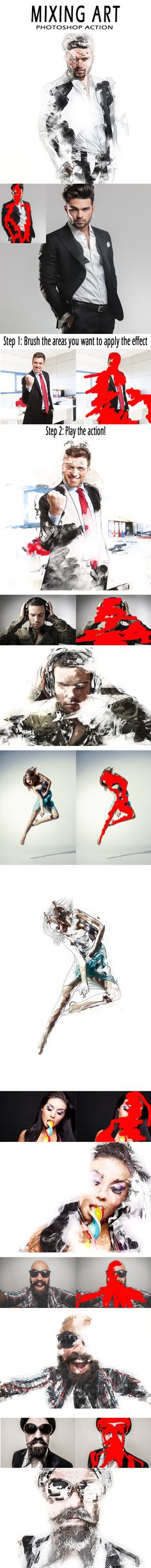 Mixing Art Photoshop Action #photoeffect Download: http://graphicriver.net/item/mixing-art-photoshop-action/13618074?ref=ksioks