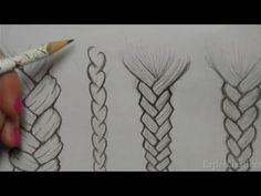 I wish I could draw braids like this