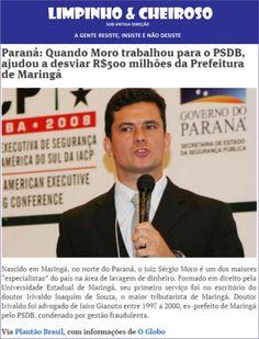 Tucano  Sérgio Moro entra com ação para censurar o  contra o blog Limpinho & Cheiroso