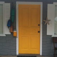 Yellow door!