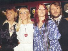 ABBA - 1977.  I believe you will see them look like this in ABBA the Movie when they talk with the press near the beginning of the film.