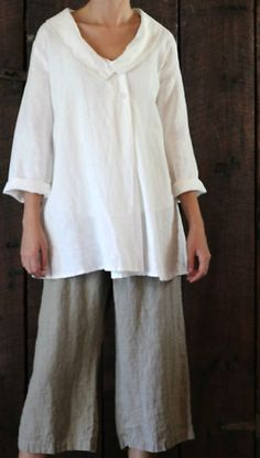 Linen tunic! I really need to start sewing again :)
