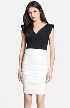Nicole Miller Ruched Surplice Sheath Dress available at #Nordstrom