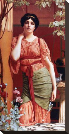 John William Godward was a neo-classical period artist who was born in 1861 in Wimbledon. He was influenced by Sir Lawrence Alma Tadema. John William Godward, John William Waterhouse, Lawrence Alma Tadema, Rome Antique, Pre Raphaelite, Classical Art, Oeuvre D'art, Art History, Art Prints