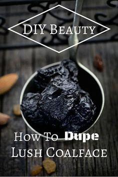 DIY Beauty: How To Dupe Lush Coalface + Holiday Gift Idea DIY beauty #diy