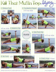 KILL THAT MUFFINTOP! In printable form ) Reblog, pin, share, print! Love ya! WORKOUT VIDEO HERE. ANIMATED GIF HERE.
