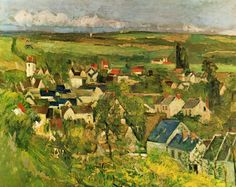 セザンヌ 1873 View of Auvers