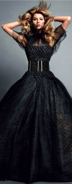 Chanel black evening gown