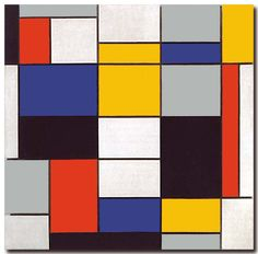"""Composition A"", Piet Mondrian, 1920"