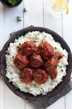 Delicious and easy porcupine meatballs that take minutes to make and cook in your crockpot. Little prep and impressive results! So far every single Valentine's Day the husband has cookeddinner for him and I. This is a really big deal for him, because he really doesn't cook besides the occasional freezer meal (he says those...