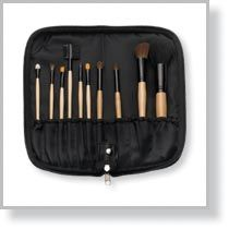 10-Piece Brush Set with Zippered Case, Black