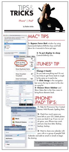 Tips + tricks for Apple iPads/iPhones/Macs