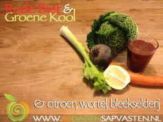 Voor deze heerlijke gezonde winter booster heb je het volgende nodig (voor 2 personen)  8 Wortelen 5 Blad Groene Kool 1 Rode Biet 3 Stengels Bleekselderij 1/2 Citroen (met schil en ZEKER biologisch!) 1 cm Gemberwortel