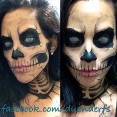Look inspired by zombie boy. Halloween make up, skull make up. www.instagram.com/duenderfs