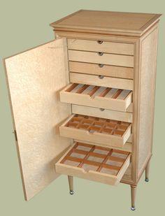 Birdseye Maple Jewelry Cabinet   Furniture Design By Mitchel Berman  Cabinetmakers NBNB