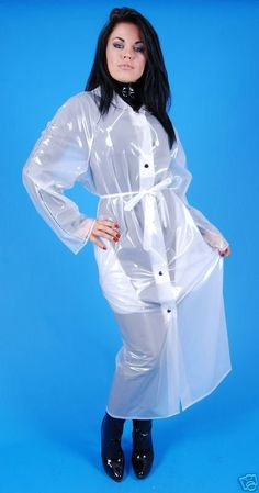 Vinyl Raincoat, Plastic Raincoat, Pvc Raincoat, Plastic Pants, Imper Pvc, Rain Fashion, Plastic Mac, Rubber Raincoats, Rain Suit
