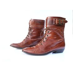 vintage italian leather ankle boots