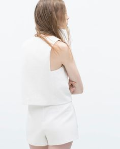 Image 4 of V-neck jacquard top from Zara