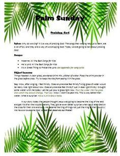 Children's Ministry- Check out this fun Palm Sunday Lesson- completely planned out! Great for Sunday School, junior church, good news clubs. etc... only $5