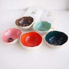 Round colourful ceramic ring dishes ring dish ceramic by Kabinshop