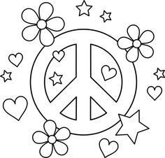 119 best groovy book fair images 60s theme 70s party birthday Decorating the Vintage Way top 25 peace sign coloring pages your toddler will love