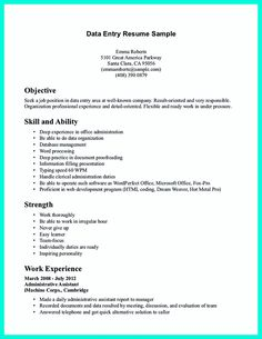 Data Entry Job Description For Resume data entry operator resume occupational examples samples free data entry operator resume occupational examples samples free Your Data Entry Resume Is The Essential Marketing Key To Get The Job You Seek