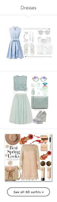 """Dresses"" by burn-panganiban ❤ liked on Polyvore featuring Chicwish, Ippolita, Christopher Kane, Maison Margiela, Fendi, Ted Baker, Ruban, Jil Sander, Victoria's Secret and La Mer"