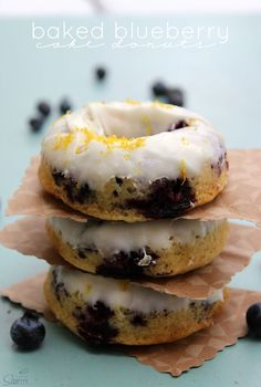Baked Blueberry Cake Donuts