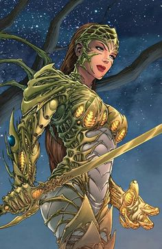 Witchblade screenshots, images and pictures - Comic Vine Comic Book Characters, Comic Book Heroes, Comic Character, Comic Books Art, Fantasy Characters, Comic Art, Character Design, Fantasy Anime, Fantasy Girl