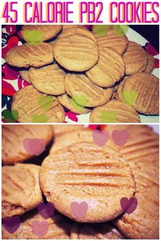Gluten Free PB2 Cookies: 1 Cup PB2, 1/3 Cup Almond Milk, 1/2 Cup Almond Flour, 1 Tsp Vanilla Extract, 1 Tbsp Chia Seeds, 1/2 Tsp Baking Powder, 4 tsp Brown Sugar (closer to 55 kcal with reg. almond milk and real sugar)