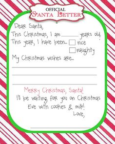 Free Printable Letters From Santa | Letters to Santa {Free Printable}