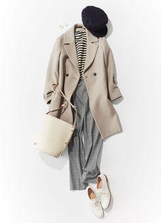 スタイリスト石上さんの「レディなトラッドの作り方」|Today's Pick Up|ユニクロ Fasion, Hijab Fashion, Autumn In Korea, Japan Outfit, Office Fashion, Japanese Fashion, Comfortable Outfits, Uniqlo, Simple Style