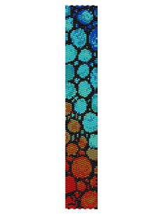 Double Drop Peyote Pattern - Abstract Bubbles
