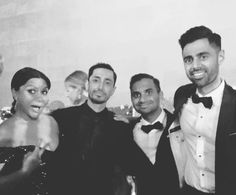All actors and or comedians I love. The lovely Mindy Kaling, the very handsome Riz Ahmed, Aziz Ansari, and Hasan Minhaj.