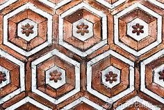 korean brick wall pattern