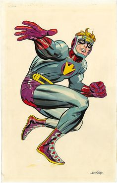 Gallery of Comic Art by Jack Kirby : The New Gods, Lightray Unused Pinup Comic Book Artists, Comic Artist, Comic Books Art, Marvel E Dc, Marvel Comic Universe, Captain Marvel, Kirby Character, Comic Character, Jack Kirby Art