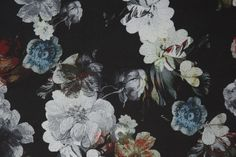 via Lotta Agaton Textures Patterns, Print Patterns, Floral Patterns, Art And Craft Design, Summer Prints, Floral Flowers, Dark Florals, Collage, Pattern Illustration