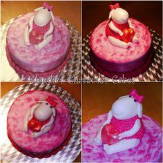 Babytorte Schäfchen   Baby cake Sheep
