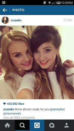 Niomi Smart and Zoe Sugg