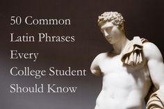 Common Latin phrases