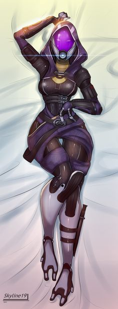 Commission: Tali Bed Pin-Up by Skyline19.deviantart.com on @deviantART