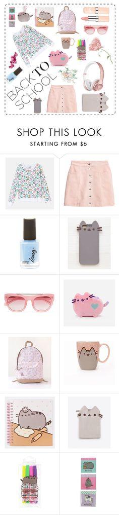 """#PVxPusheen"" by marie-claire-danner ❤ liked on Polyvore featuring Beats by Dr. Dre, H&M, Pusheen, Erdem, Gund, BackToSchool, contestentry, pusheen and PVxPusheen"