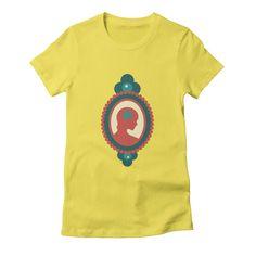 THAT PRETTY LADY [D] Women's T-shirt by Veronica Galbraith • Surface Pattern Designer