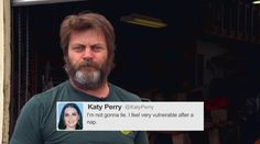 Nick Offerman Reads More Tweets From Female Celebrities
