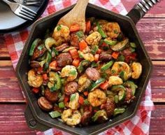 20-Minute Shrimp & Sausage Skillet Paleo Meal Recipe
