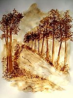 coffee art painting - Google Search